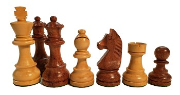 "European Chess Set -Babul Wood 3.75"" King - 4 Queens - 3x Weighted"