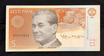 Paul Keres 5-Kroon Note Front
