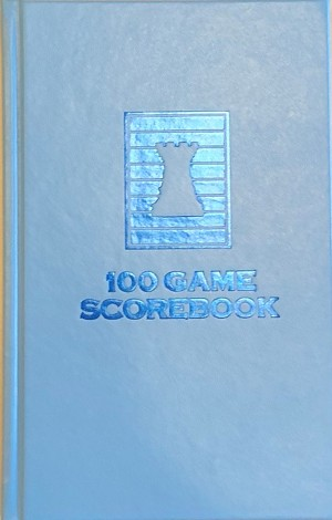 Atomic Blue Chess Hardcover Scorebook