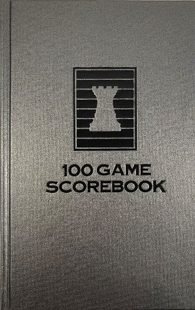 Battleship Gray Chess Hardcover Scorebook