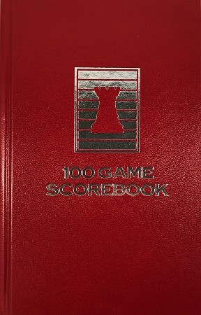 Candy Apple Red Chess Hardcover Scorebook