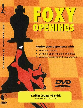 Foxy Volume 3: Albin Counter-Gambit  Chess DVD