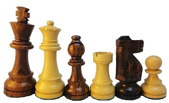 "Sheesham Wood Chess Set - 4 1/4"" King"