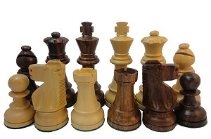 Sheesham Wood Staunton Chess Set - 4 Inch King