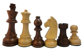 "European Sheesham Wood Chess Set - 4 1/4"" King"