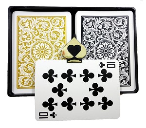 COPAG 1546 -Black/Gold - Index Choice - Poker Playing Cards