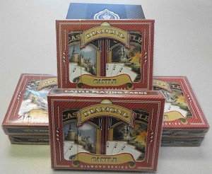12 Sets (24 decks) -  Ace 100% Plastic - Castle Bridge - Reg. Ind.