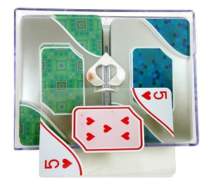 Copag Acqua 100% Plastic Transparent Bridge Reg Ind. Playing Cards