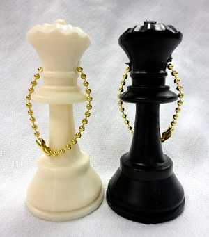 Pair of Queens - 1 Black & 1 White Queen Key Chain