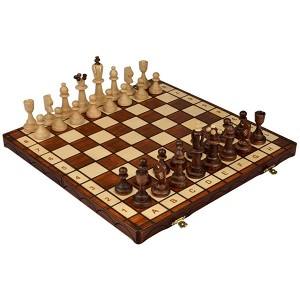 Ace Wooden Chess Set & Folding Board - King 4""