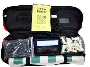 Superior Chess Combo - Bag/Board/Pieces w/ DGT NA Digital Chess Clock