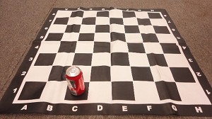 "Large Vinyl Chess Board - 3 1/2"" Sq - w/ Notation"