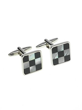 Chess Board Cuff Links 3X3