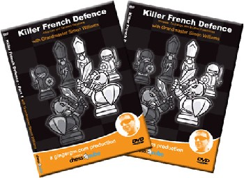 Killer French Vol.1 & 2 - GM S. Williams - 2 Chess DVDs - 9 1/2 Hours