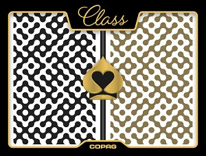 Copag Modern Plastic Playing Cards - Black/Gold - Bridge - Super Index