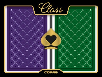 Copag Standard Plastic Playing Cards - Purple / Green - Bridge - Super Index