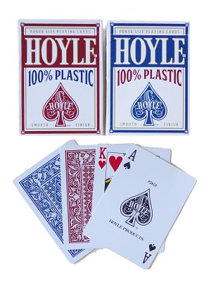 Hoyle Red/Blue 100% Plastic Playing Cards - Poker - Regular Index