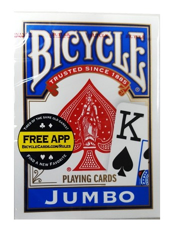 Bicycle Playing Cards - Poker - Jumbo Index - Blue
