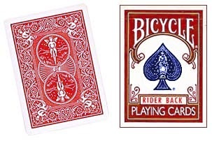 Bicycle Original Rider Back Playing Cards - Red - Poker
