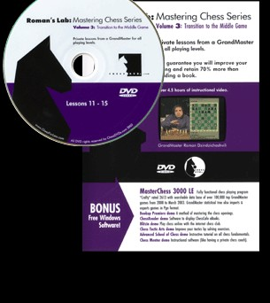 Roman's Lab 3: Transition to the Middle Game Chess DVD