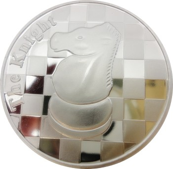 "The Knight - 1 Troy Oz .999 Silver Round Chess Coin - 1 9/16"" Diameter"