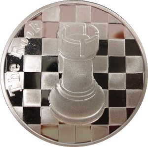 "The Rook - 1 Troy Oz .999 Silver Round Chess Coin - 1 9/16"" Dia."