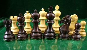 "Taj Mahal 025 Rosewood Chess Set - 3 1/2"" King - Weighted"