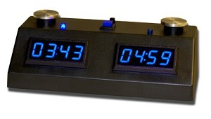 Zmart Fun ZMF-II Digital Chess Clock - Blue LED Display / Black Case