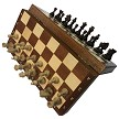 "Intarsie Inlaid Wood Magnetic Chess Set  - 10 1/2"" board  -  2"" King"