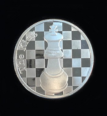 "The King  - 1 Troy Oz .999 Silver Round Chess Coin - 1 9/16"" Dia."