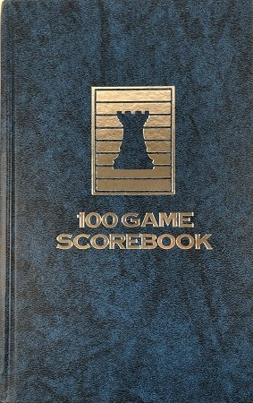 Marble Blue Chess Hardcover Scorebook