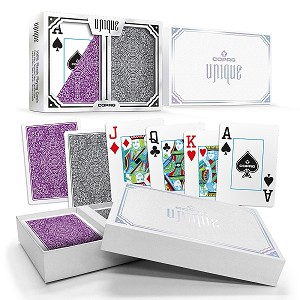 COPAG UNIQUE -Purple & Gray - Index Choice - Poker