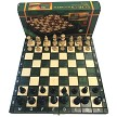 "Wooden Magnetic Chess Set - 10 1/2"" Folding Board - 2"" King - Green"
