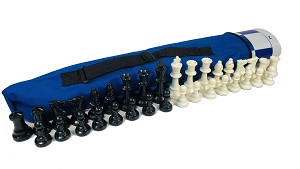 WEIGHTED Quiver COMBO: Bag, Board & Weighted 32oz Chess Set