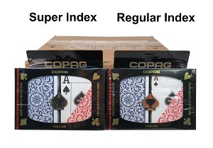 COPAG 1546 - Red & Blue - 12 Dual Decks - Index Choice  - Poker