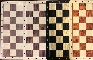 "Chess Board - Wood Grain Floppy Mousepad  - 2 1/4"" Squares - USA Made"