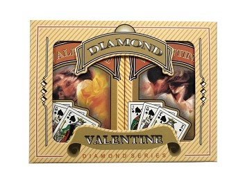 Valentine Bridge Playing Cards - Ace 100% Plastic - French Index