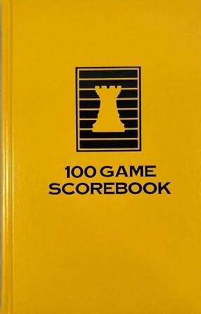 Yellow Chess Hardcover Scorebook